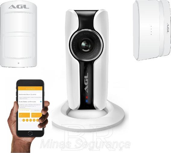 Central De Alarme Wifi Agl Com 3 Câmeras Wifi