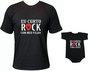 Kit Tal Pai Tal Filho 1 Body + 1 Camiseta