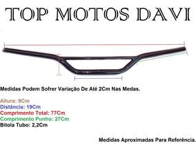 Guidão Moto Honda Crf 230 Preto