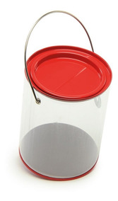 Mini Lata Tinta Vermelho 6 Unid Decorativo