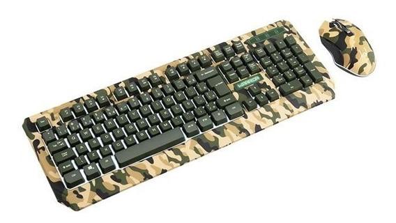 Combo Teclado E Mouse Warrior Kyler Gamer Army C/ Cabo-tc249