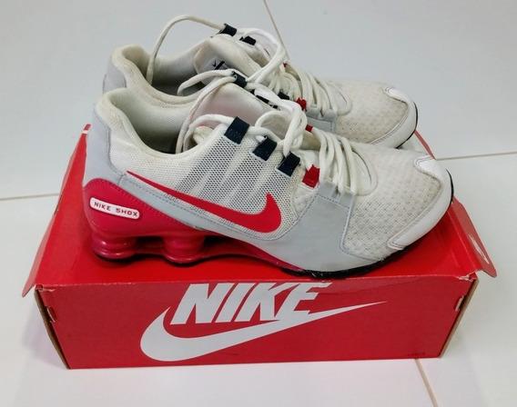 Tenis Nike Shox Branco Masculino 4 Molas 28 Nº 42 Original