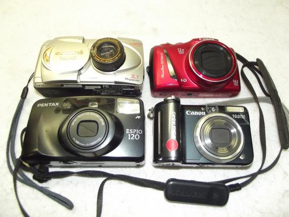 Lote 4 Cameras Diversas Defeito Sem Garantia Não Liga