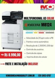 Multifuncional Kyocera Ecosys Laser Color A3 M8124cidn