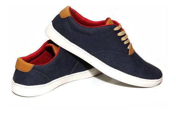 Sapatenis Azul Masculino Sapato Casual Tamanho 37 Ao 44