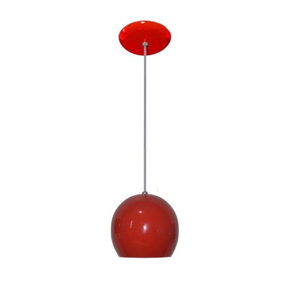 Luminaria Colorida Modelo Bolinha - 14cm X 15cm Vermelho