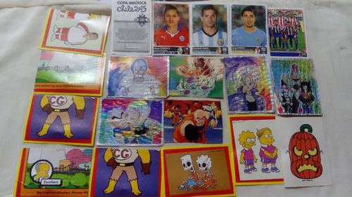 Imagen 1 de 1 de Cromos Album Fútbol Dragon Ball Simpsons