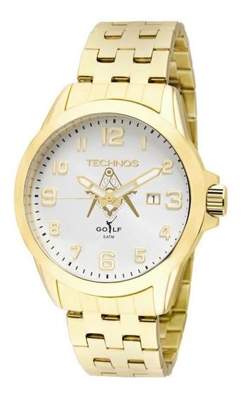 Relógio Technos Masculino Analógico Dourado 2115kny/m4k