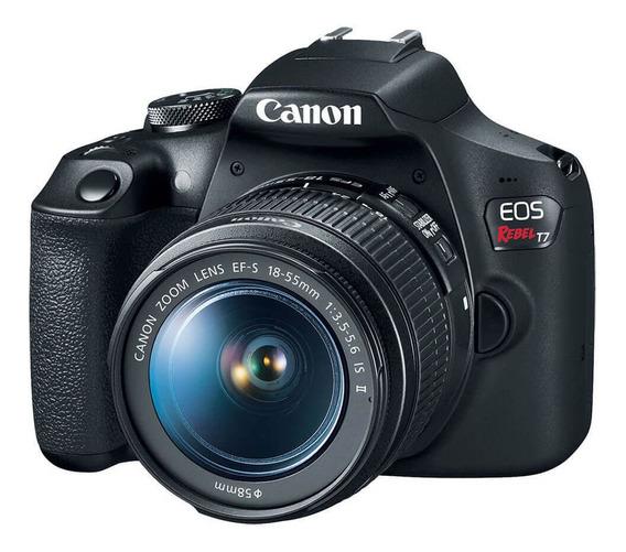 Câmera Canon Eos Rebel T7 Com Lente Ef-s 18-55mm Is Ii