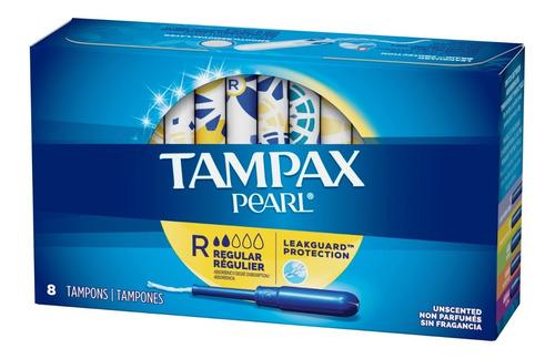 Imagen 1 de 7 de Tampones Regular Tampax Pearl 8 Unidades