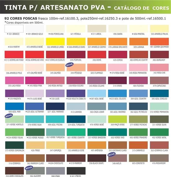20x Tinta Pva Para Artesanato Corfix 100ml *escolha*a*cor*