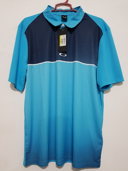Playera Marca Oakley Color Azul Talla M Golf