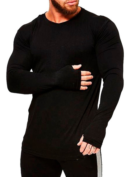 Pack X3 Remeras Lisas Hombre Manga Larga Por Mayor Gimnasio