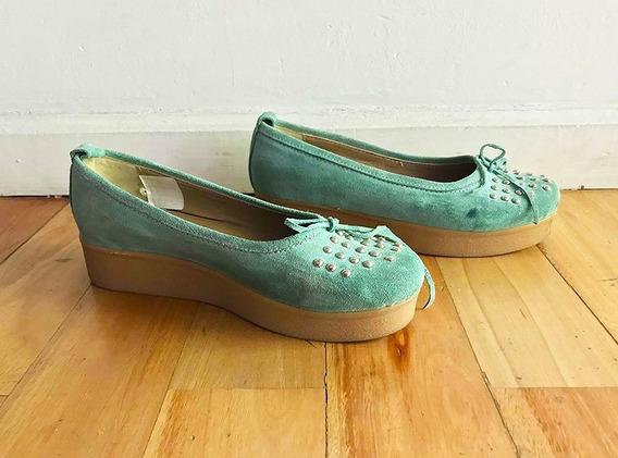 Chatitas Zapatos Con Base Y Tachas Sibylla Talle 38