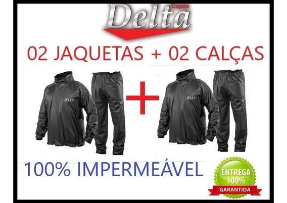 Kit C/ 2 Conjunto Capa Chuva Delta Motoqueiro 2calça+2jaquet