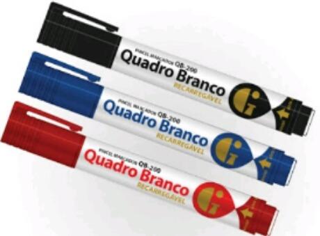Pincel Para Quadro Branco Qb-200 Recarregavel C/12
