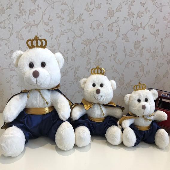 3 Ursos Príncipes Pelúcia Para Nicho G, M, P Decoração Bebê