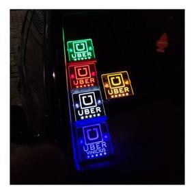 Luminoso Placa Uber Led Acrílico 12v Direto Na Bateria
