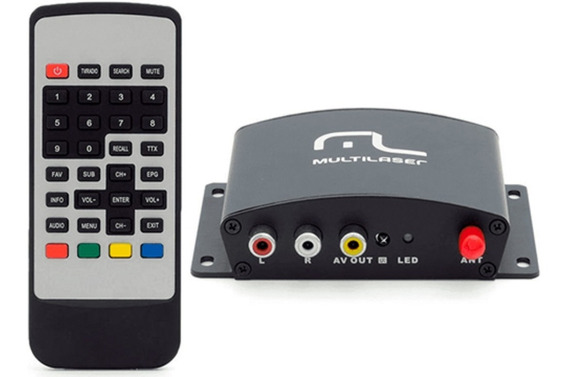 Sintonizador De Tv Digital Multilaser Automotivo 1seg- Au907