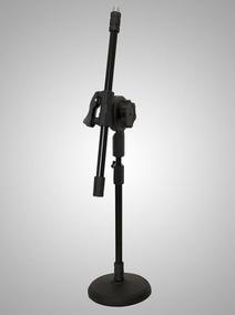 Pedestal Microfone Mesa Girafinha Ps-3g Ps3g Preto Visao Bk