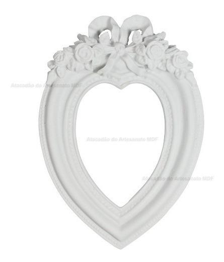 10 Moldura Coração Grande 21x14,5x2 R5043 Resina