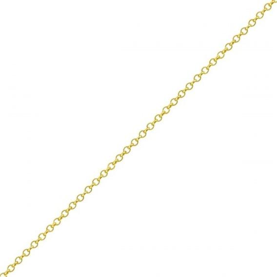 Tornozeleira De Ouro 18k Malha Portuguesa Com 27cm To00152