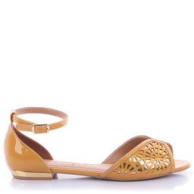 Sandália 0185 Verniz Amarelo