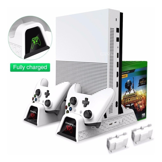 Suporte Base Vertical Xbox One / One S X Com Cooler 2 Bateri
