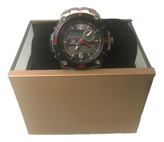 Relógio Masculino Esportivo Dumont Anadigi Thunder Metal