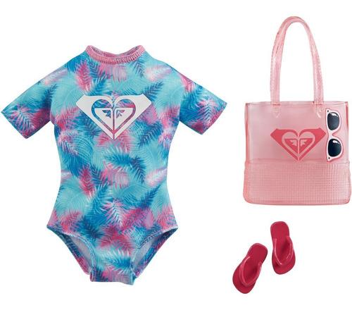 Imagem 1 de 4 de Barbie Fashion Pack 2021 Roxy Maiô Chinelo Bolsa
