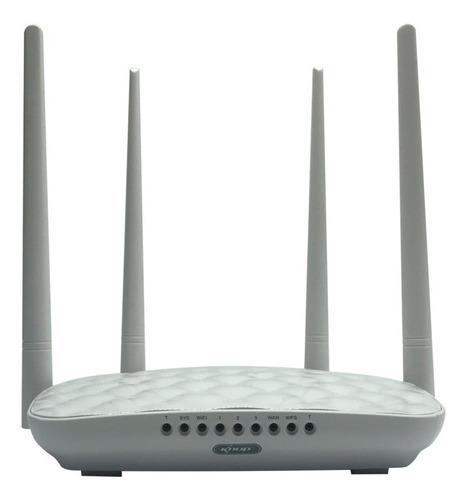 Imagem 1 de 3 de Roteador Wireless Wifi 300mbps 2.4ghz 4 Antenas 5dbi Kp-r05