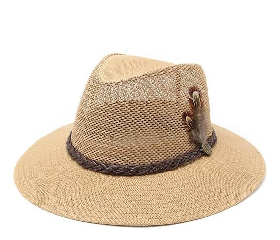 Sombrero Australiano Mujer Pluma Playa Verano
