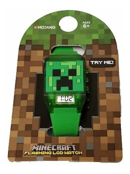 Reloj Minecraft Flashing Led Watch Nuevo Original