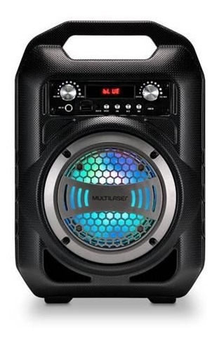 Caixa De Som Multilaser Sp256 40w Rms Bluetooth Fm Sd P2 Usb
