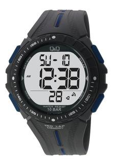Reloj Digital Q&q M102-002 Sumergible 100 Metros