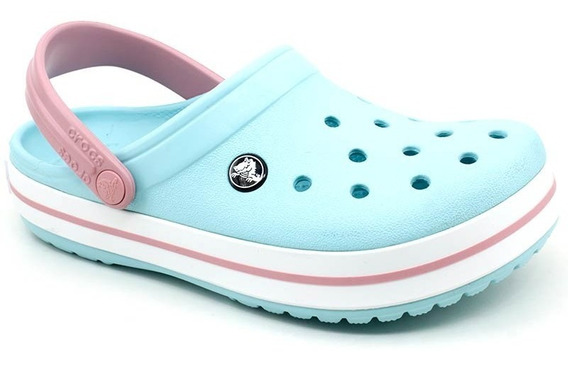 Sandália Crocs Infantil Crocband Kids Original Azul Celeste