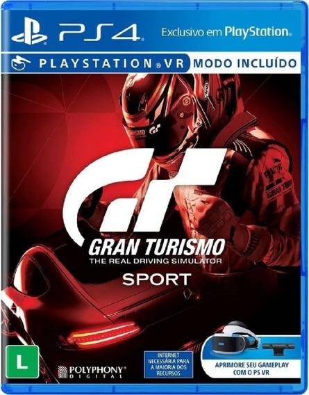 Gran Turismo Sport Ps4 Mídia Física Novo Pronta Entrega
