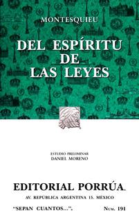 Del Espíritu De Las Leyes Montesquieu Libro Política Porrúa