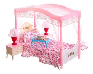 Mueble Para Casa Muñeca Barbie Recamara Elegante 2314 Full