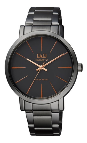 Reloj Qyq Q892j432y Lujoso Para Caballero Negro/ Azul