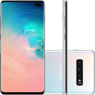 Celular Smartphone Samsung Galaxy S10 Plus Branco