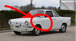 Pie Espejo Bmw 700 1960 De Carlo Coupe Glamour Bronce