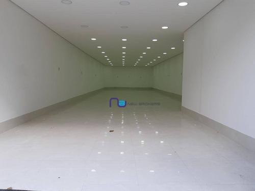 Salão Para Alugar, 120 M² Por R$ 4.000,00/mês - Mooca - São Paulo/sp - Sl0205
