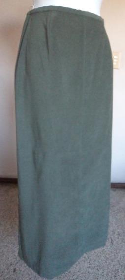 Falda Color Verde Aceituna Linea A Talla 8 Fag367