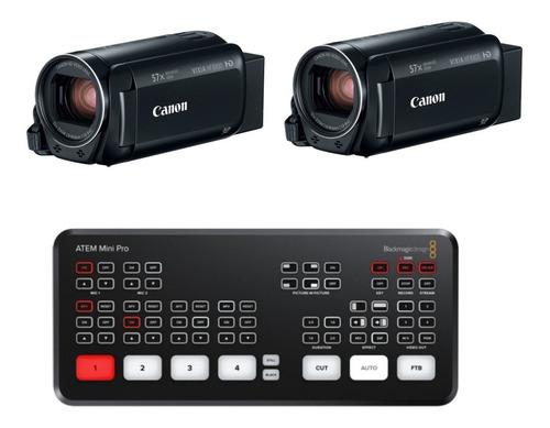 Blackmagic Atem Mini Pro + 2x Canon R800 Kit Live C/ Nfe