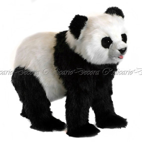 Urso Panda 75cm Pelúcia Design Realista Decorativo