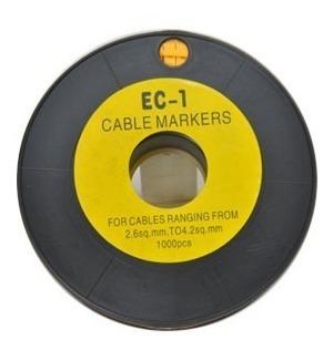 Ec-1 Marcadores Identificadores De Cabos 1000 Pçs.