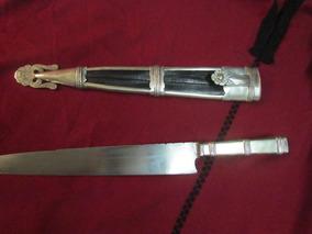Cuchillo Macho 30cm Picaso Hoja Airon, Con Baño De Plata