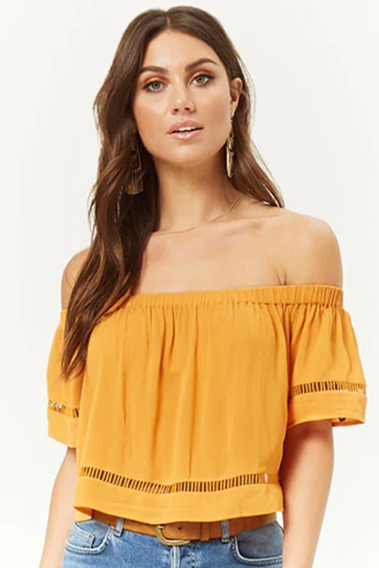 Top / Remera Strapless Forever21