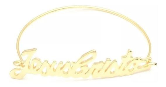 Pulseira Bracelete Escrito Jesus Cristo
